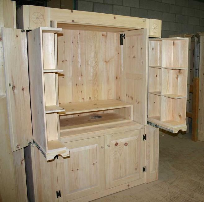 Tv Cupboard Doors & A Large TV Cabinet With Retractable Doors